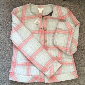 Sundance NWT size 8 gray & coral(ish) jacket.